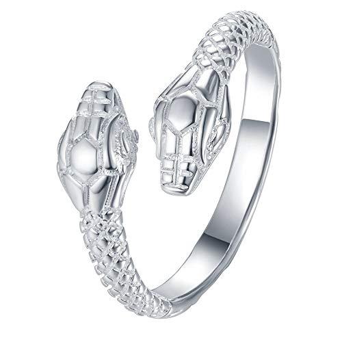QFERW Anillo ajustable serpiente fresca Venta al por mayor 925 joyas plateadas Anillo, joyería de moda Anillopara mujeres
