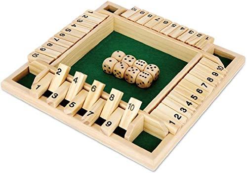 Juego De Mesa De Madera Shut The Box Para 4 Jugadores Juguete CláSico De Tablero De Dados, Juego De Dados Shut The Box Para NiñOs Adultos, VersióN CláSica De Mesa Y Juego De Mesa (verde)