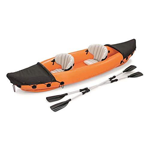 YZT QUEEN Kayak, 2 Personen Aufblasbares Kajak 351 * 76 * 38 cm, Doppeltes Wasser-Schlauchboot-Kanu-Abenteuer-Rafting-Kajak Mit Paddeln Aus Aluminiumlegierung