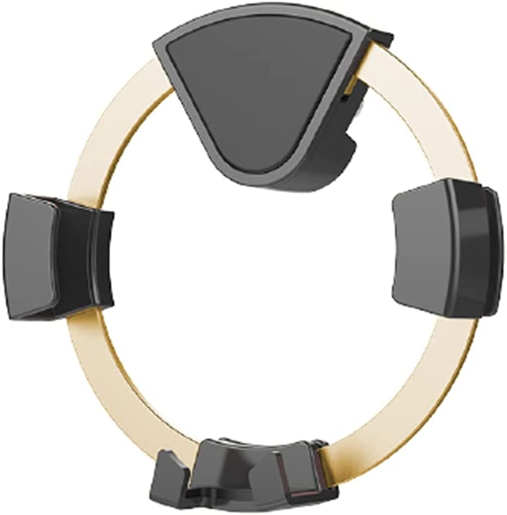 Circular Gravity Car Phone Mount,Car Vent Phone Mount,Phone Holder for Car Vent,Cell Phone Automobile Accessories Suitable for All Phones (Riches Gold)