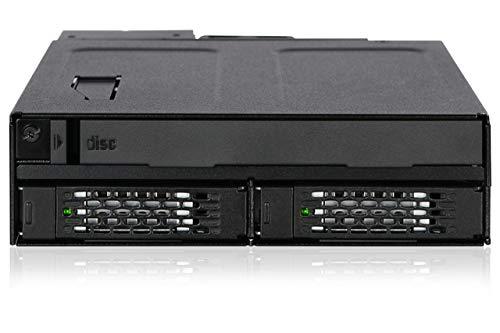 ICY DOCK ToughArmor MB602SPO-B - Wechselrahmen für 2X 2,5 Zoll SATA/SAS SSD/HDD und 1x SATA (Ultra) Slim ODD in 1x 5,25 Zoll Vollmetall