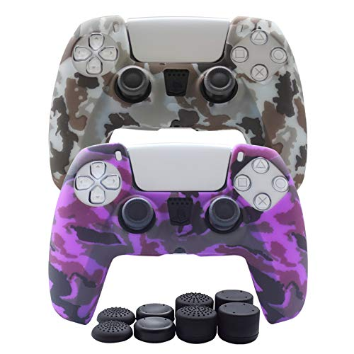 PS5 Controller Skin-Hikfly Silicone Cover for PS5 DualSense Controller Grips,Non-Slip Cover for...