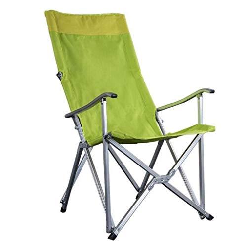 MUMUJIN Klappstuhl Rückenlehne Grün Handlauf Tragbare Outdoor Angeln Strand Camping Grill Stuhl 72 * 100 cm MUMUJIN