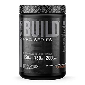 Pro-Series Build Muscle Builder - Premium Muscle Building and Mass Gainer Energy Supplement - Boost Muscle Growth Post Workout Muscle Recovery and Pre Workout Strength - 60 Servings Peach Mango