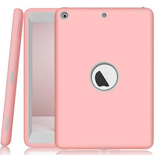 iPad 9,72018/2017Hülle, nokea Heavy Duty Robuste Dämpfung High Impact Resistant Hybrid Dual Layer Silikon + Hard PC Bumper Schutzhülle für iPad A1893/A1954/A1822/A1823, Rose Gold