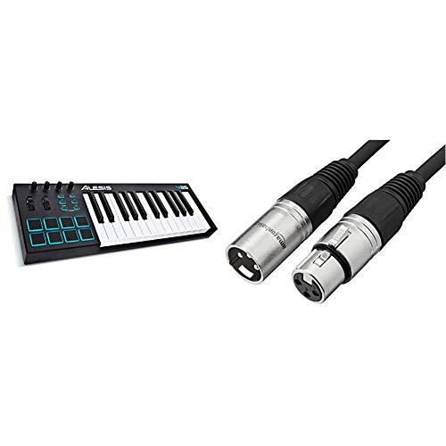 Alesis V25 | 25 Key USB MIDI Keyboard Controller with Backlit Pads, 4 Assignable...