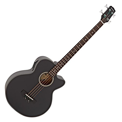 Electro Acoustic Bass Guitar by Gear4music, Black