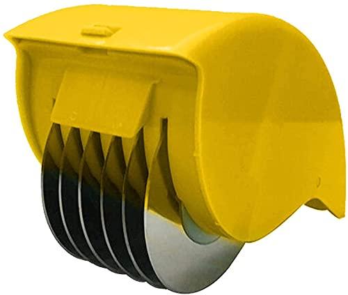 ASKI Cortador de verduras, cortador multifunción, trituradora portátil, cortador de placa manual, procesador de alimentos, cortador de rodillos, amarillo