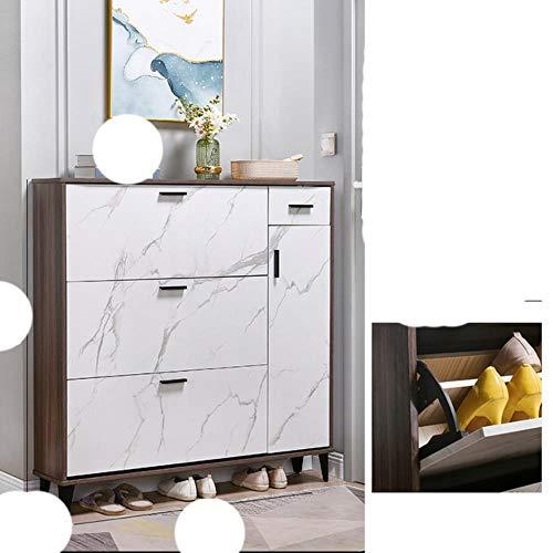 Sala de estar Pasillo Zapatero Armario de muebles para el hogar Apartamento n¨rdico Estante de almacenamiento Dormitorio Zapato ultrafino -blanco B 110x24x120cm