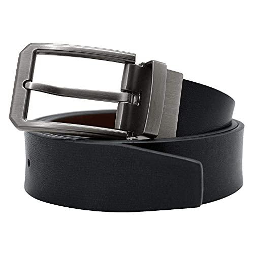 FZYE Cinturón Cinturones para Hombre Marca de Hombre Cinturón de Cuero Hebilla de Pasador Correa de pantalón de Negocios Negro (Longitud del cinturón: 120 cm, Color: Negro)