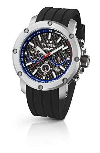 TW Steel Factory Chronograph Racing Black Silicone Mens Watch TW924