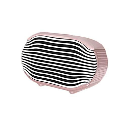 Yokbeer Calentador de Espacio, Calentador de Espacio Pequeño de Bajo Consumo para Dormitorio, Calentador de Espacio Eléctrico de Cerámica PTC para Autocaravana de Oficina Y Hogar (Color : Pink)