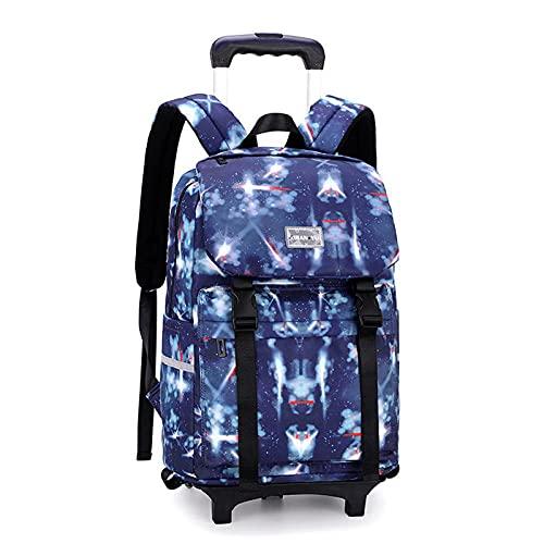 Night K Mochila escolar con ruedas para niños, unisex, extraíble, impermeable, H-30 x 18 x 43 cm