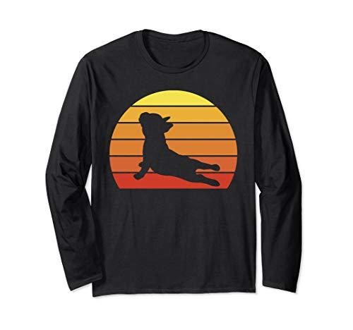 Retro Vintage French Bulldog Yoga Design Gift French Bulldog Long Sleeve T-Shirt