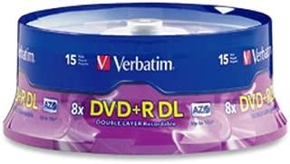 Verbatim DVD+R DL 8.5GB 8X AZO Surface - 15pk Spindle