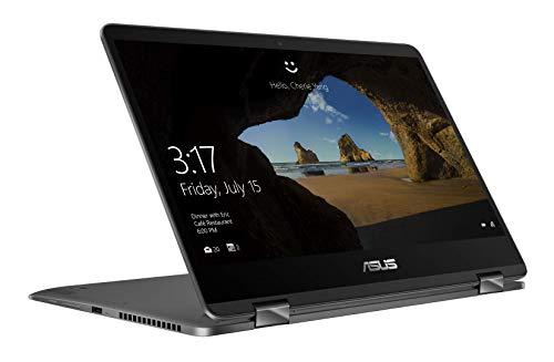 Asus Zenbook Flip UX461FA-E1059T Ultrabook 14' Gris (Intel Core i5, 8 Go de RAM, SSD 256 Go, Windows 10) Clavier Azerty Français [Ancien Modèle]