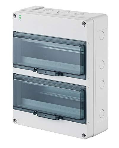 Sicherungskasten Kleinverteiler Feuchtraum Unterverteilung IP65 2reihig f.26 Automaten Außenbereich