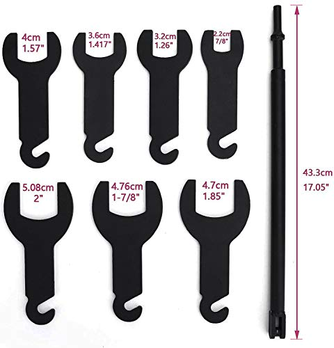 43300 Pneumatic Fan Clutch Wrench Set, Fan Clutch Removal Tool Kit Fits for Ford GM Jeep Chrysler