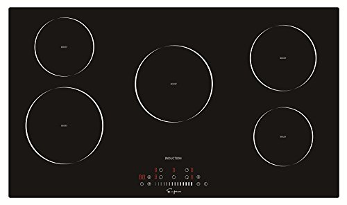 Empava 36 Inch Electric Induction Cooktop Smooth Surface with 5...