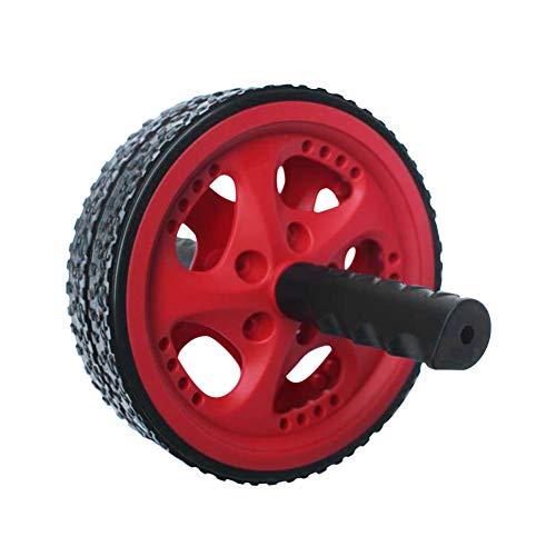 HilMe Bauchtrainer-Roller mit zwei Rädern, tragbarer Bauchmuskel-Trainer, trainiert die Bauch- und Rückenmuskulatur für Zuhause, Fitnessstudio, Krafttraining, nicht null, rot, Free Size