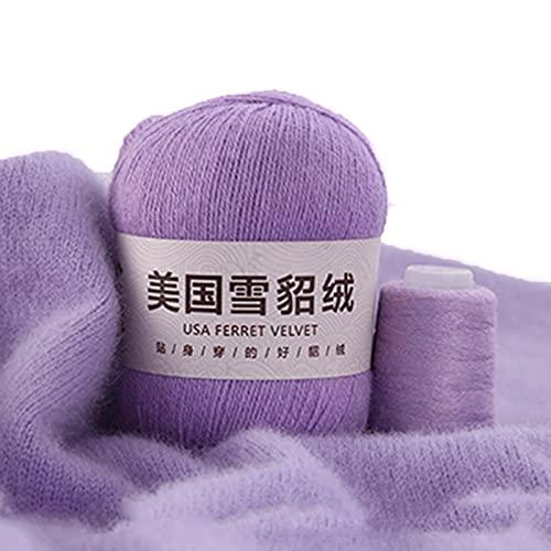 50 g+20 g terciopelo simple color sólido hilo DIY tejer a mano ganchillo hilo de coser a mano