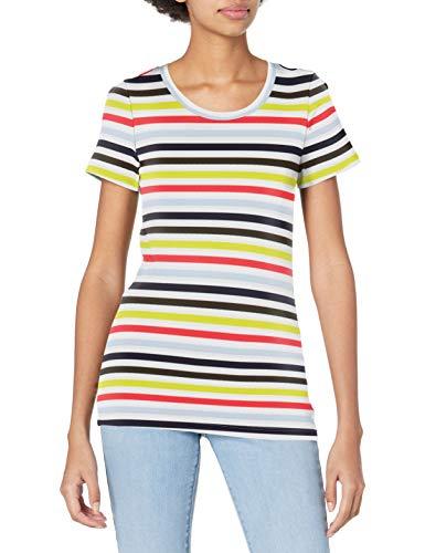 J.Crew Mercantile Women's Short Sleeve T-Shirt in Stripe, White Multi, M