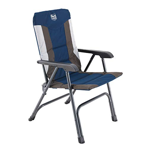 TIMBER RIDGE Portable Full Padded Camping Folding Chair for Outdoor with Carry Bag and High Back Blue Lightweight Aluminum Frame-Supports up to 300lbs