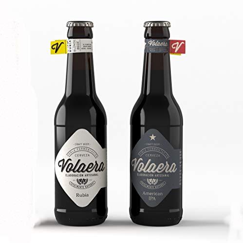 Cerveza Artesana Volaera. Surtido 12 botellines de 33cl. 6Rubias + 6Rubias IPA