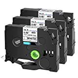 SuperInk 3 Pack Compatible for Brother HSe-231 HSe231 HS-231 HS231 Black on White Heat Shrink Tube Label Tape use in PT-D210 PT-D400 PT-E300 PT-E500 PT-P750WVP Printer (0.46''x 4.92ft,11.7mm x 1.5m)