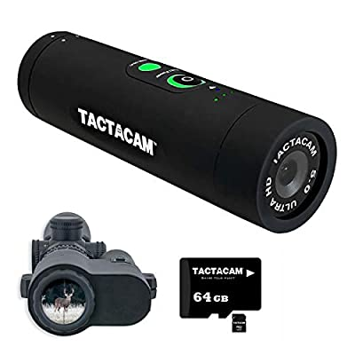 TACTACAM 5.0 Hunting Action Camera + FTS (Film Through The Scope) Mount and 64GB MicroSD Card from TACTACAM