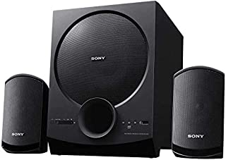 Sony SA-D20, 2.1ch Home Theatre Satellite Speakers with Bluetooth, USB, NFC Compatible, Big Size SubWoofer - Black