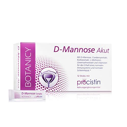 D-MANNOSE + CRANBERRY AKUT, Pulver Sticks für Harnwege und Blase, enthält Löwenzahn, Kürbissamen, Vitamin C und L-Methionin (12 Sachets à 3 g)