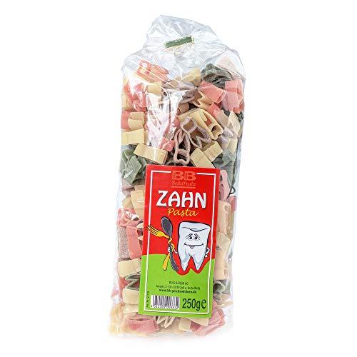 Monsterzeug Nudeln in Zahnform, Witzige Pasta, Kulinarisches Geschenk, Hartweizengrieß, 250 Gramm