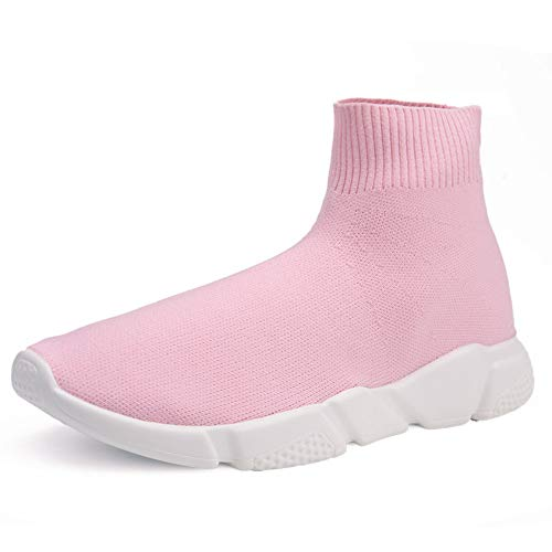 Hedoras Womens Athletic Mesh Breathable Sneakers Lace Up Running Workout Comfort Sports Fashion Sneakers Tennis Shoes Pink