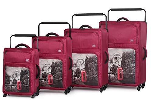 it luggage World's Lightest-St Pauls Cathedral 4-Wheel 4-Piece Set, Red