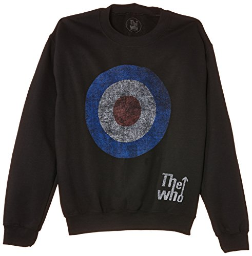 Rock Off The Who Target Distressed - Sweat-shirt - Col ras du cou - Manches longues - Homme, Nero (Black), X-Large (Taille fabricant: X-Large)