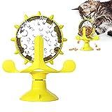 Juguetes para Gatos,Juguete de Gato Molino de Viento,360°Giratorio Juguetes para Gatos Interactivos,Dispensador de Premios Interactivo,Juguetes para Mascotas