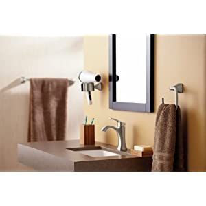 Moen YB5186ORB Voss Bathroom Towel Ring, Oil-Rubbed Bronze