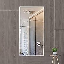 Creative Arts n Frames Glass Wall Mirror (Mirror: 18 x 36 inch, Shelf: 18 x 6 inch, Silver) (1)