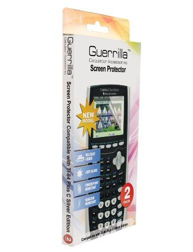 Guerrilla Military Grade Screen Protector 2- PackFor Texas Instruments TI 84 Plus C Silver Edition Color Graphing Calculator Photo #4
