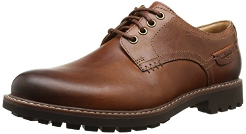 Clarks Zapatos con cordones Derby para hombre, color dark