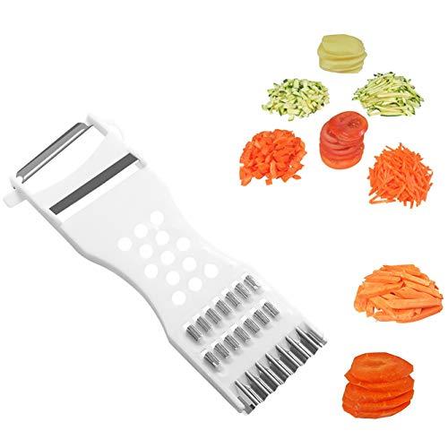 Luckynono Cucina cookig Strumenti,Dispositivo Multifunzione per Frutta e Verdura, grattugia per Tagliare cetrioli, Carote, pelapatate, Julienne