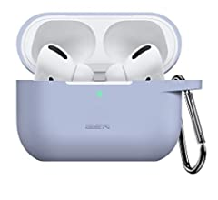 Visible Front LED Pink 2019 Release Shock-Absorbing Soft Slim Silicone Case Skin Bounce Carrying Case with Keychain for AirPods Pro Charging Case ESR Protective Cover for AirPods Pro Case