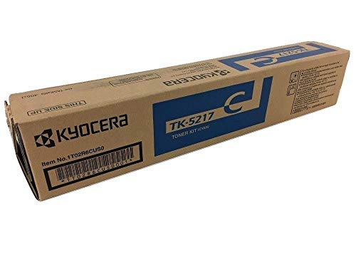 Kyocera 1T02R6CUS0 Model TK-5217C Cyan Toner Cartridge For use with Kyocera TASKalfa 406ci A4 Color Multifunctional Printer, Up to 15000 Pages Yield at 5% Average Coverage