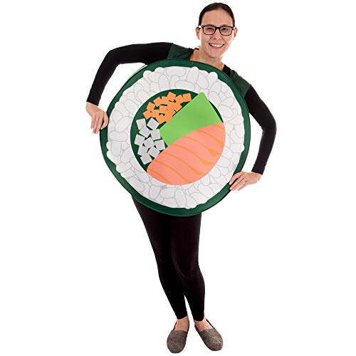 Salmon Sushi Roll Halloween Costume - Funny Unisex Food Costume, Men & Women