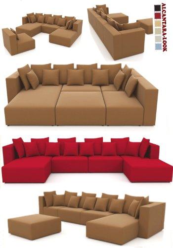 ::: MODELL MILLENIUM: DESIGNER WOHNLANDSCHAFT: 5 LUXUSTEILE + 12 KISSEN NEU ! in 6 Farben Alcantara-Look zur Auswahl > KOSTENLOSER VERSAND in AT & DE ! > BERATUNG: Tel: 0043(1)715-16-16, (Mo. bis Fr. 9.30 bis 15 Uhr) oder E-Mail: office.at@vienna-international-furniture.com :::