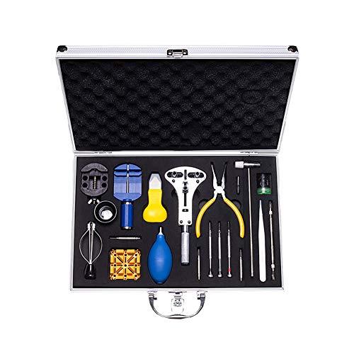 Kentop - Juego de herramientas para reparación de relojes (31 piezas, con...
