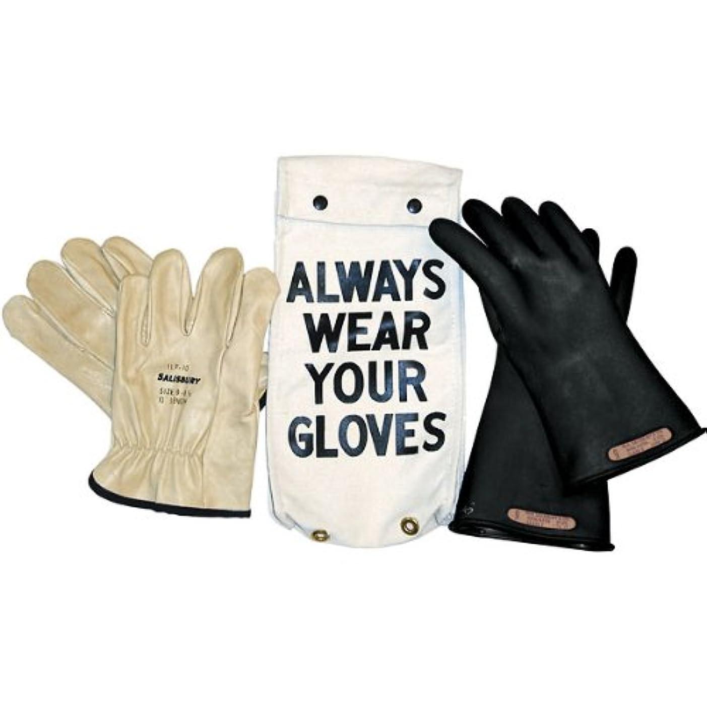 説得力のある飾る元気Salisbury Insulated Glove Kit, Class 2, Black/Red, 14L, Size 9; One Pair by Salisbury