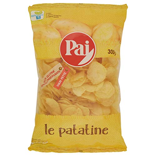 8 BUSTE PATATINE PAI LE PATATINE CLASSICA BAR 300 gr BUSTA GRANDE PARTY COCKTAIL