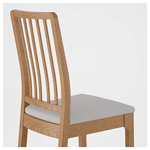 EKEDALEN/EKEDALEN Tisch und 2 Stühle, Eiche, Ramna Hellgrau, 80/120 cm, strapazierfähig und pflegeleicht, Essgruppe bis zu 2 Sitzplätze, Esstisch und Schreibtische, Möbel Umweltfreundlich
